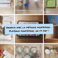 Plateaux autonomie Montessori : on s'y met !