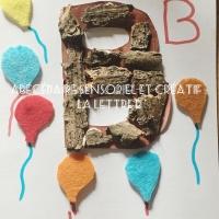 Abécédaire sensoriel et créatif : la lettre B!