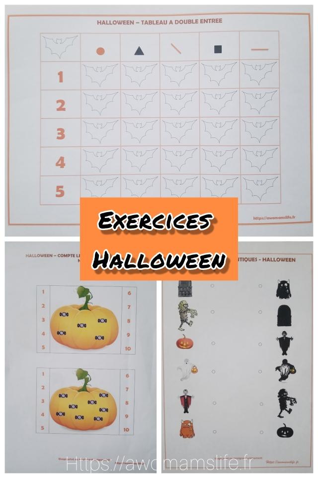 Exercices sur halloween à télécharger gratuitement