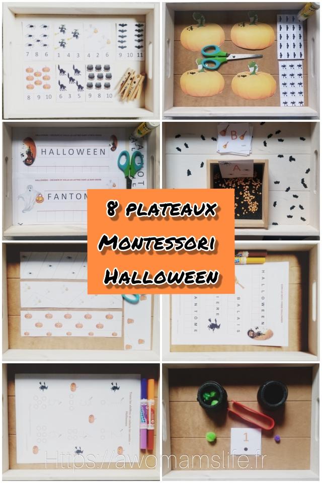 Plateaux montessori halloween
