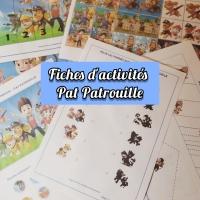 Fiches d'activités Pat Patrouille!!!